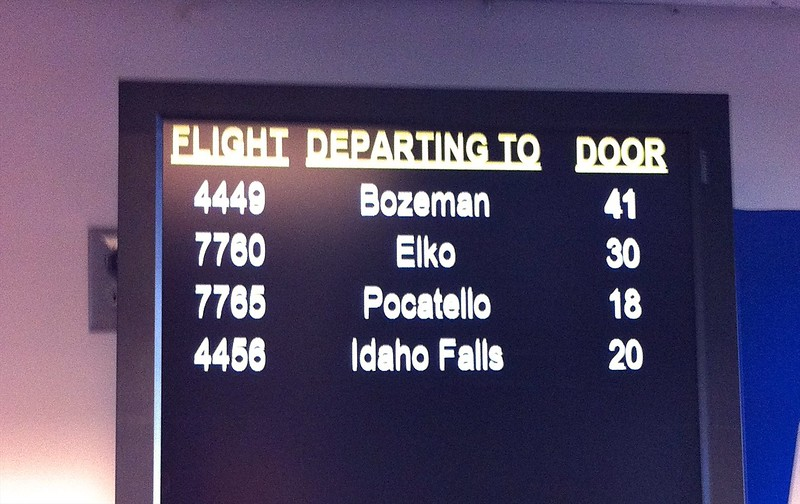 Today we're flying to Pocatello.
