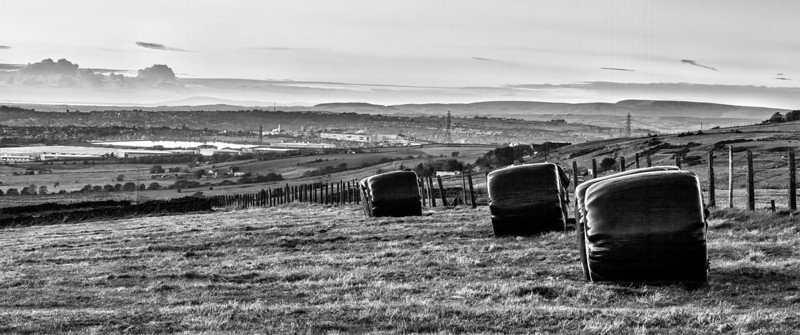 View of Blackburn, Lancashire,  from near Long Hey Lane.