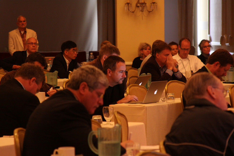 """""""Your Turn: The Next Five Years: A Group Conversation"""": (foreground) Doug Smith, President, W.D. Smith & Associates"""