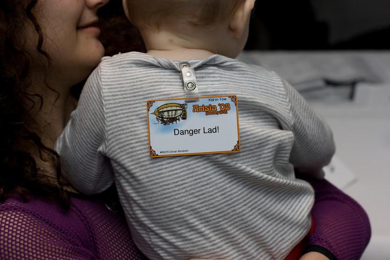 Kris holding Danger Lad!