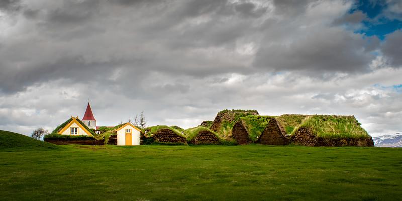 Turf Houses and Church Glaumbær, Skagafjardarsysla