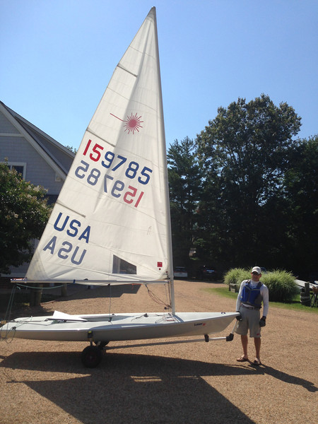 6/14 about to launch the new boat for the first time.