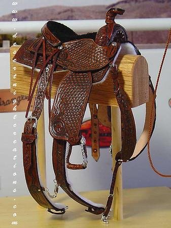 Miniature Replica of a Cutting Saddle.