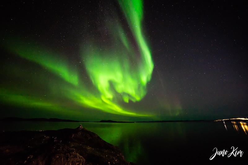 Northern Lights from Qinngorput side of Nuuk