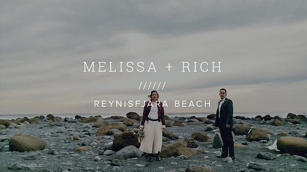 MELISSA + RICH ////// REYNISFJARA BEACH