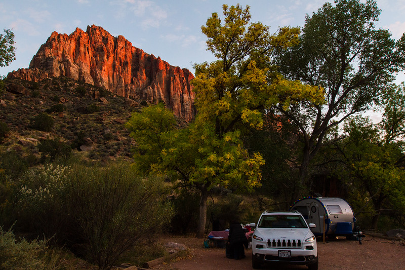 The Watchman from our campsite.