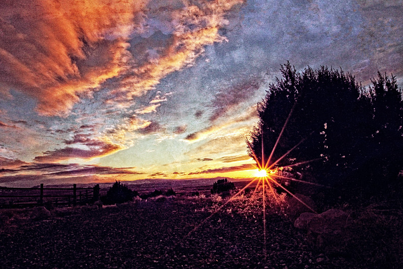 Sunset in Beaver, Utah
