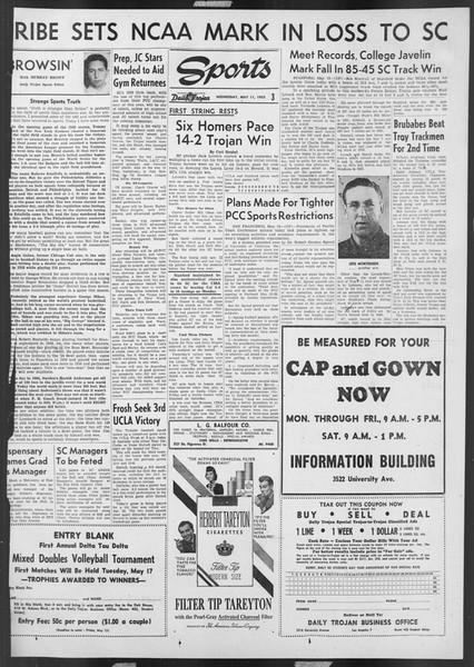 Daily Trojan, Vol. 46, No. 133, May 11, 1955