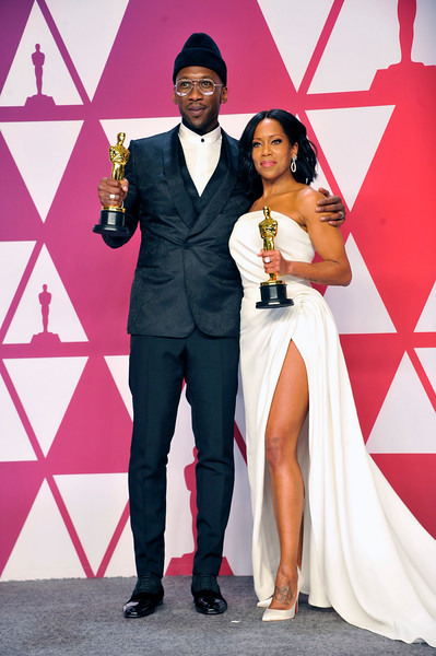 "ACADEMY AWARDS 91ST OSCARS PRESSROOM HELD AT THE LOWES HOTEL IN HOLLYWOOD CALIFORNIA ON FEBRUARY 24,2019. MAHERSHALA ALI & REGINA KING BEST SUPPORTING ACTOR ""GREEN BOOK"" & REGINA KING BESYT SUPPORTING ACTOR ""IF BEALE STREET COULD TALK"" PHOTOGRAPHER VALERIE GOODLOE"
