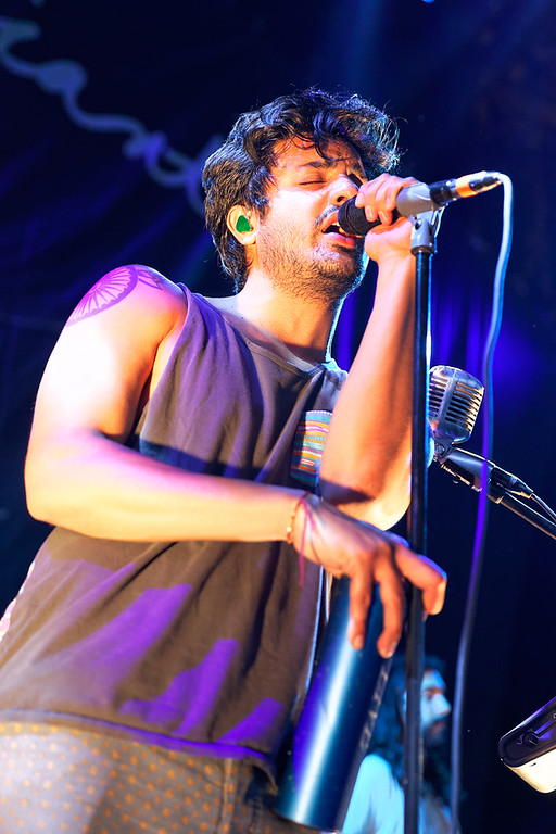 . Sameer Gadhia of Young The Giant at DTE-8-1-14. Photo by Ken Settle