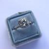 1.59ct Antique Cushion Cut Diamond Halo Ring GIA K VS2 11