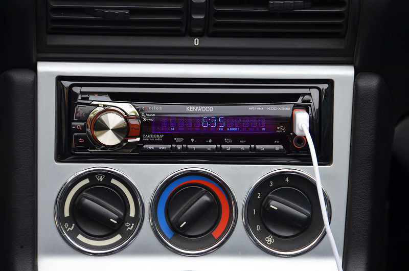 2012-7-31 ––– I broke down and put a new Kenwood stereo and Clarion speakers in my BMW Z3. Half the speakers were bad and the stereo wasn't working that well. What I love most is the fact that I was able to take an ultra tiny 8GB USB drive (about the size of a dime) and load it with all my favorite music. Plug it in and I have nearly 16 hours of music. Love it so far.