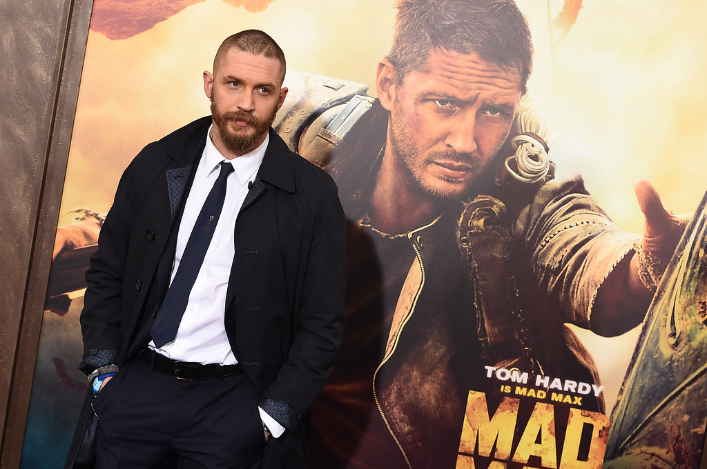 ". Tom Hardy arrives at the Los Angeles premiere of ""Mad Max: Fury Road\"" at the TCL Chinese Theatre on Thursday, May 7, 2015. The film will be shown at Lorain Palace Theater, 617 Broadway, at 7 p.m. June 26. For more information, visit <a href=\""http://www.lorainpalace.com/\"">lorainpalace.com</a>. (Photo by Jordan Strauss/Invision/AP)"