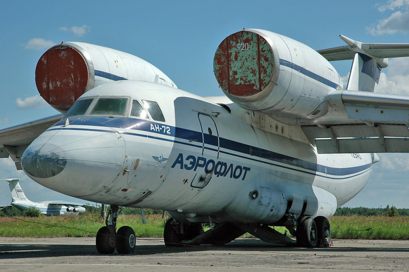 Chkalovsky Air Base (CKL/UUMU) outside Moscow on July 25, 2008. Russian Fweretion Air Force Antonov An-72 Coaler RA-72940 (cn 36572080781/08-05). Note that the air intake cover is from a different aircraft. I think this one is operated by the 8th ADON (8th Special Purpose Aviation Division). Another wolf in sheep`s clothes!
