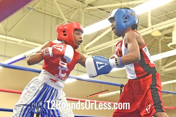 Bout 8 Tyshaun Humphries, Blue Gloves -vs- Denton Yates, Red Gloves, 1 1/2 Min. Rds.