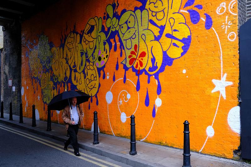 Artistc mural, Shoreditch, London, United Kingdom
