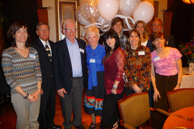 Barbara Merrill - with JB, Scott, Lois, Shawna & Bill Skinner & some of Barbara's family at John Merrill's memorial