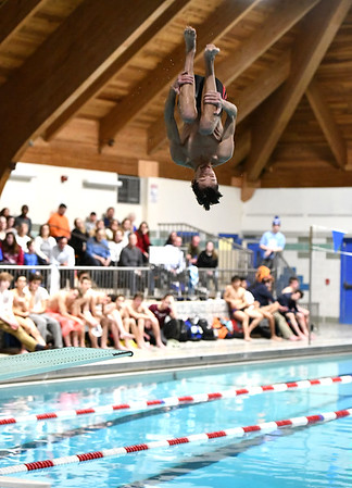 1/7/2020 Mike Orazzi | StaffrBristol diver Anthony Fasci against Hall High School in Bristol.