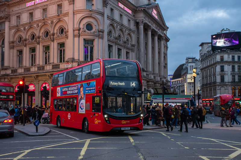 YY66 OYU Piccadilly Circus