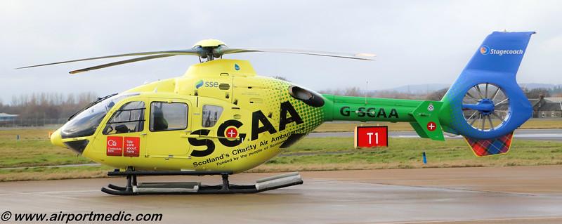 G-SCAA EC135 Scottish Charity Air Ambulance @ Glasgow Airport (EGPF)