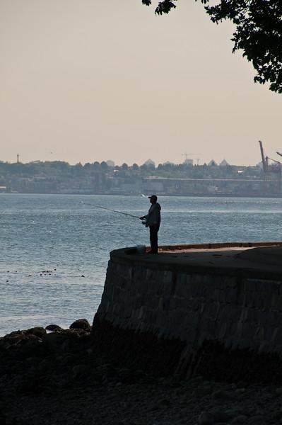 A lone fisherman.