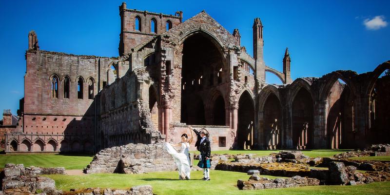 melrose abbey wedding