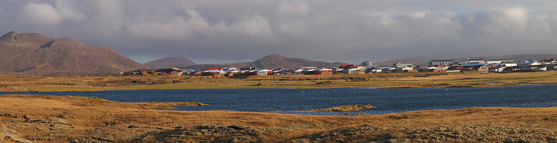 Grindavik on the south west coast. These charming houses surrounded by the stunning backdrop and overlooking the sea. What a place to live!