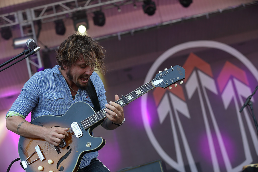 . John Butler performs with his band, the John Butler Trio at Lollapalooza in Chicago\'s Grant Park on Saturday, Aug. 2, 2014. John Butler Trio will perform July 7 at House of Blues Cleveland. For more information, visit houseofblues.com/cleveland. (Photo by Steve C.  Mitchell/Invision/AP)