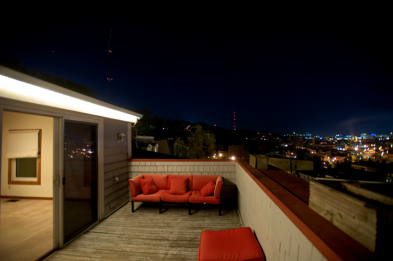 VIEW FROM ROOFTOP DECK FACING EAST