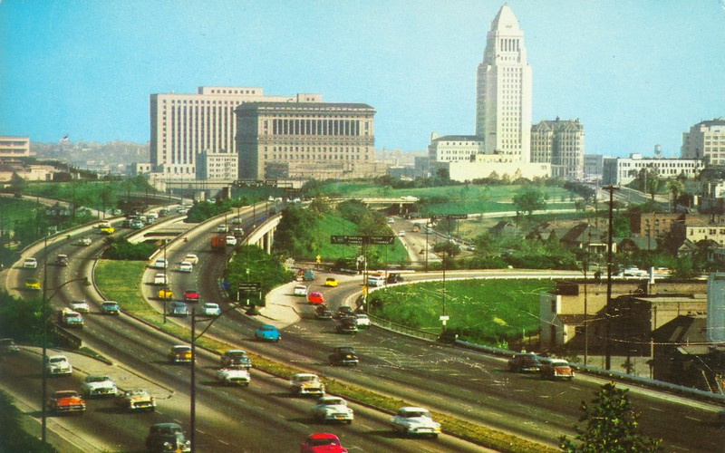 Hollywood Freeway and Civic Center