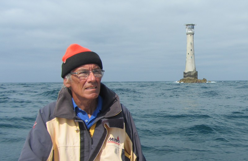 Peter Mitchell at the Eddystone