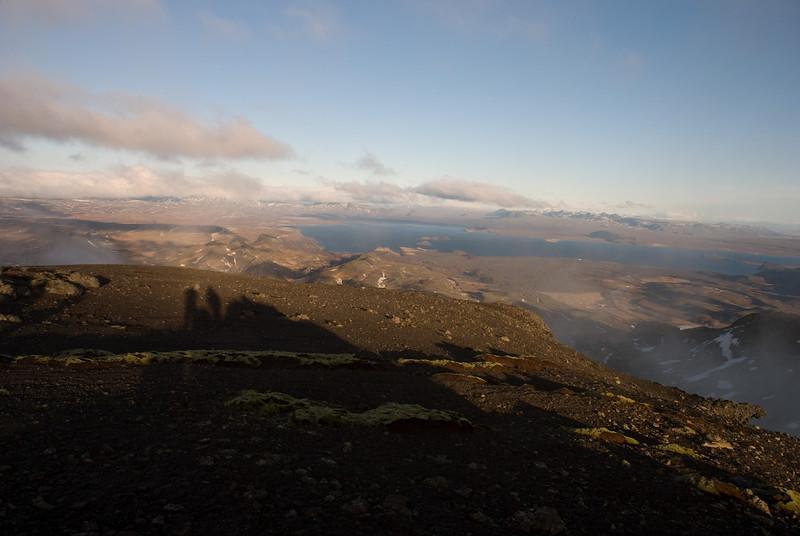 Mínútuskyggni yfir Þingvallavatn