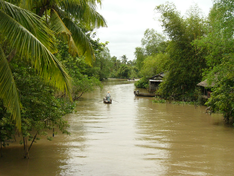 Nice canal near the Mekong Delta