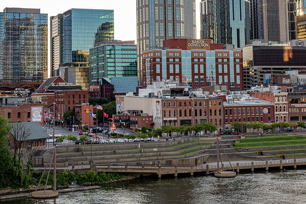 Nashville's Lower Broadway from across the Cumberland River