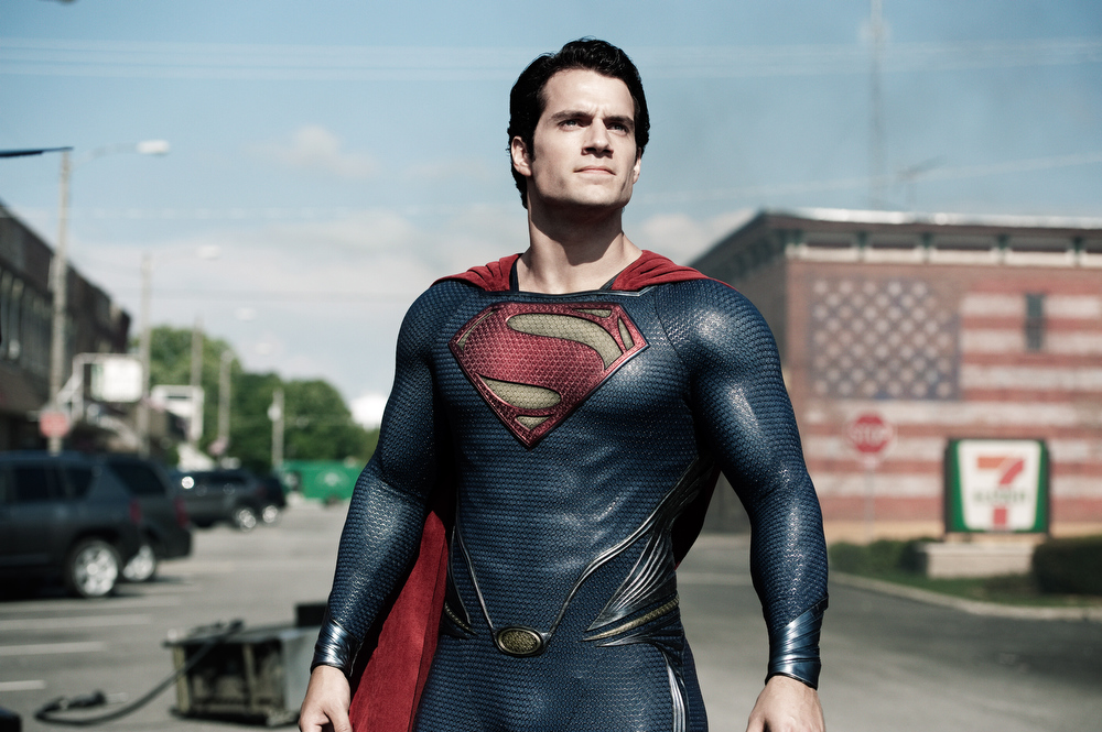 """. This film publicity image released by Warner Bros. Pictures shows Henry Cavill as Superman in \""""Man of Steel.\"""" (AP Photo/Warner Bros. Pictures, Clay Enos)"""