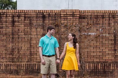 Julia & Jake | A Sweet, Early Morning Downtown Cary Engagement