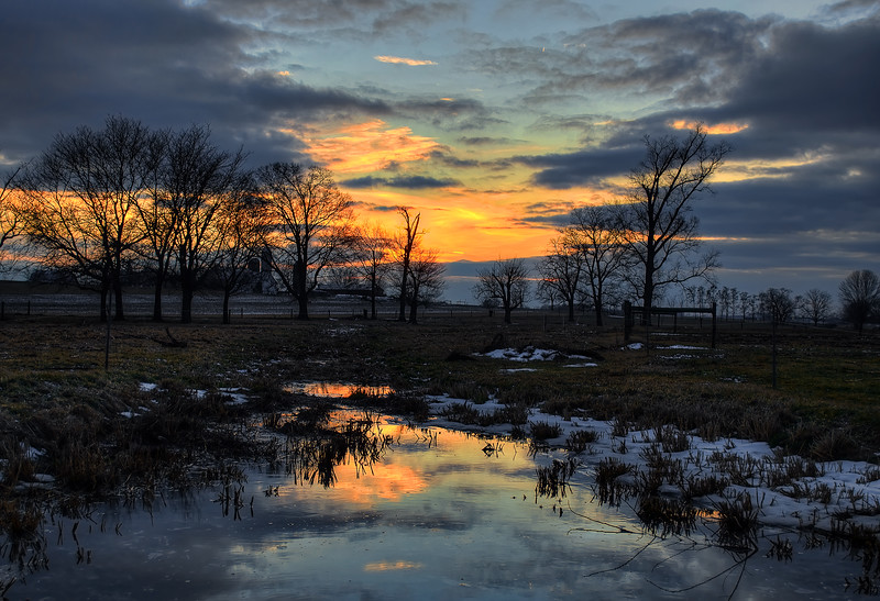 sunset - reflections in the melted snow(p).jpg