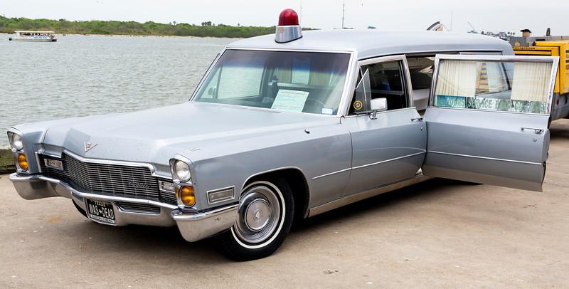 A 1968 Cadillac Hearse