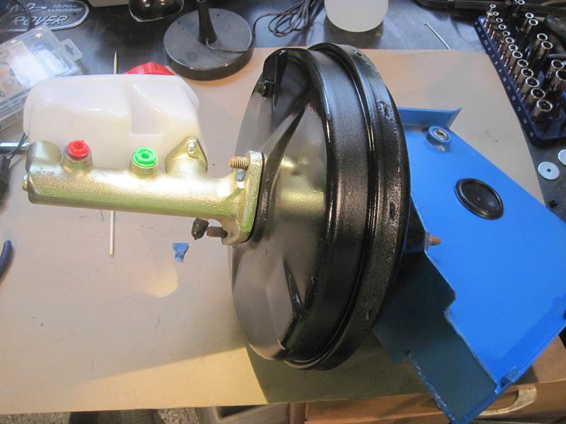 The old brake servo had rusted through. Rebuilt