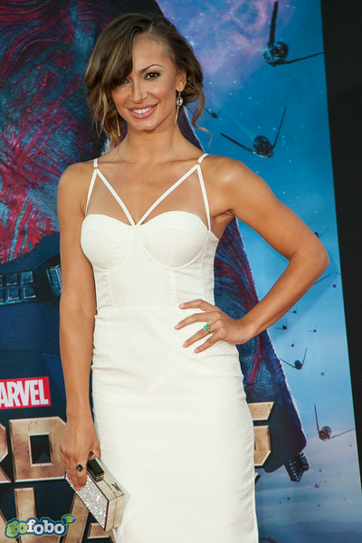 HOLLYWOOD, CA - JULY 21: Dancer Karina Smirnoff attends Marvel's 'Guardians Of The Galaxy' Los Angeles Premiere at the Dolby Theatre on Monday July 21, 2014 in Hollywood, California. (Photo by Tom Sorensen/Moovieboy Pictures)