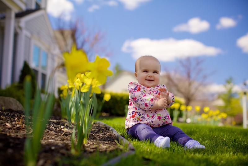 Lil Miss Natalie... Spring Flowers