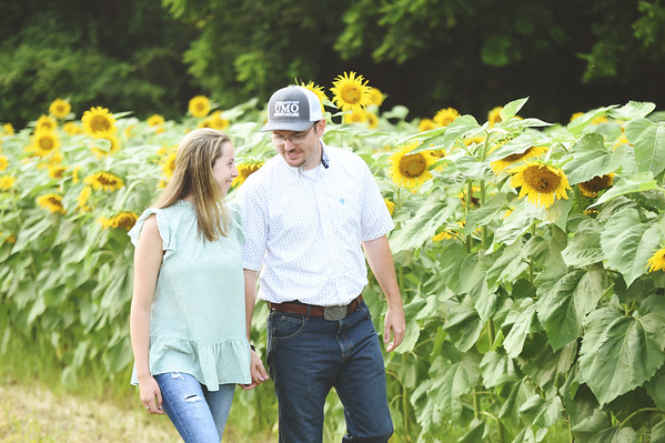 Brittany and Logan Sunflowers 2021
