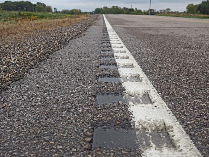 Road vandalism on MN-21