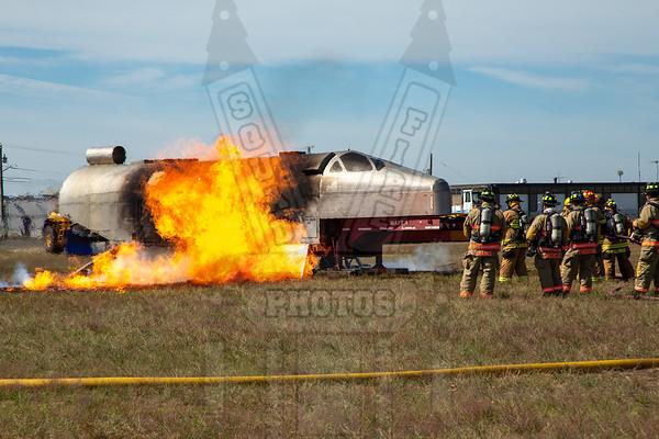 Bradley Airport airplane fire training 8/21/20
