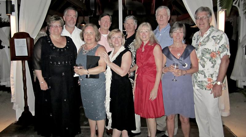 Left to right:   Debbie & Jim Elsner, Karen & Mike Graziade, Ruth & Bob Sano, Linda & Bob Hedderman, Lisa & Brad Feller