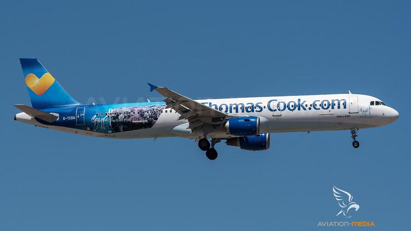 Thomas Cook UK / Airbus A321-211 / G-TCDA / Egypt Livery