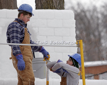 Snow Workers & Statues
