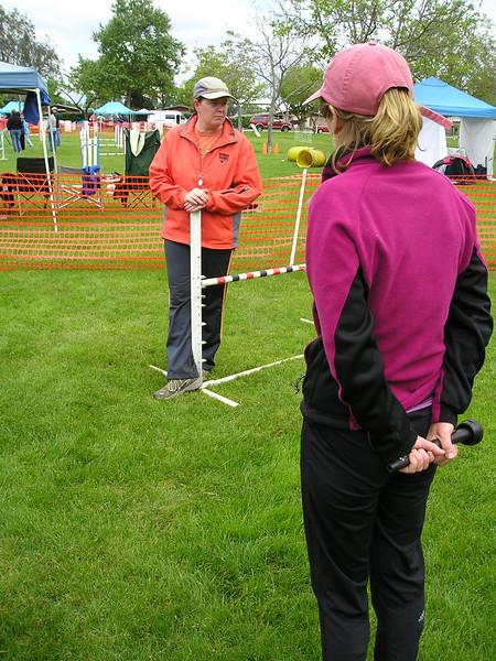 Mary Ellen Barry teaching dog agility rear crosses