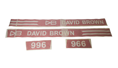 DAVID BROWN 996 BONNET DECAL STICKER SET