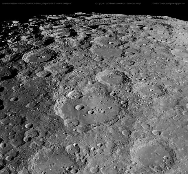 Clavius and Moon's Southern Pole